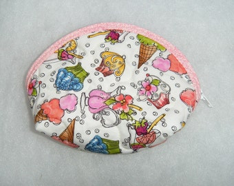 Small Quilted Purse - Ice Cream and cupcakes