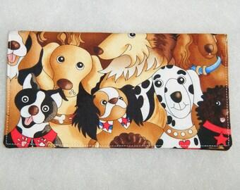 Checkbook Cover - Happy Dogs