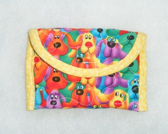 Card Holder - Rainbow Dogs