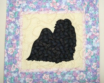SALE ---Shih Tzu  - Quilted Mini Dog Wall Hanging 16 x 14.5