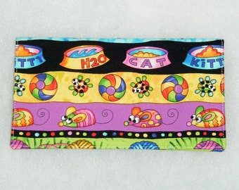 Checkbook Cover - Cat Toys