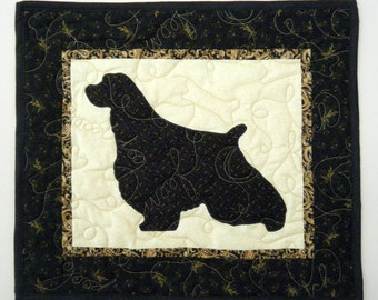 SALE ---English Springer Spaniel - Quilted Dog Wall Hanging 16.5 x 15