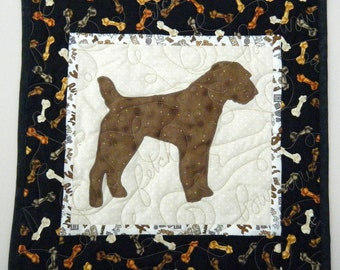 SALE ---Jack Russell Terrier - Quilted Mini Dog Wall Hanging 15 x 15