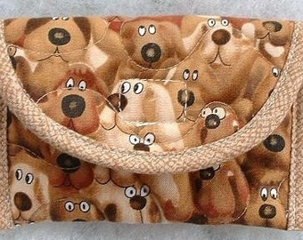 Card Holder - Brown Dogs