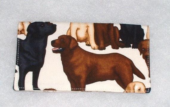 Checkbook Cover - Labrador Retriever