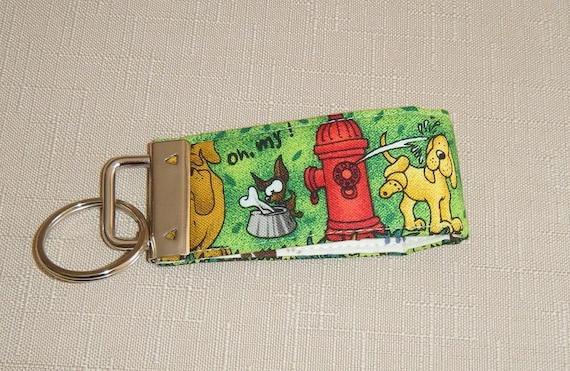 Mini Key Fob  - Doggy World green