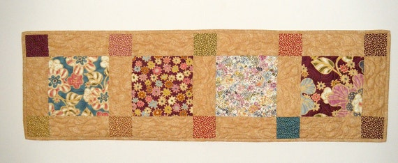 Quilted table runner 14 x 46 inches - price reduced