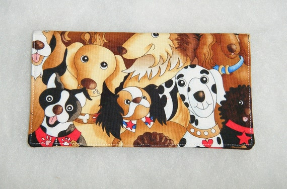 Checkbook Cover - Happy Dogs