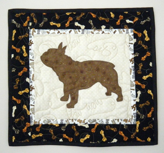 French Bulldog - Mini Quilted Dog Wall Hanging 16 x 14.5