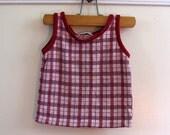 Vintage Boys Health Tex Plaid Knit Toddler Tank / Shirt (4t)
