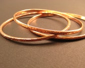 Set of 3 Copper Bangles