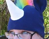 RESERVED - Eula - Rainbow Unicorn Hat