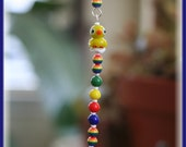 Adorable Suncatcher with Cute Lampwork Duck, Colorful Lampwork Beads, Huge 40mm Austrian Crystal Ball, Handmade Hanger, Baby, Toddler Gifts