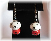 Adorable Beagle Earrings in Choice of Silver or Gold Accents