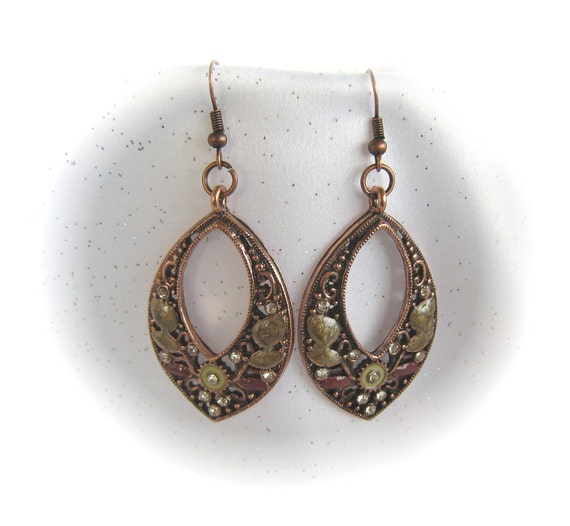 Gorgeous Copper Scroll Earrings