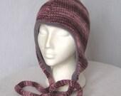 Ecofriendly Wool Silk Ear Flap Hat Soft Fleece Lined Free Size (592)