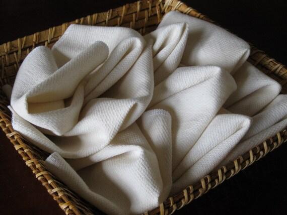 Two Dozen Unbleached Birds eye Unpaper Towels
