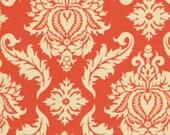 Decorative Pillow Cover - Tangerine Tango Orange Damask 12 x 16 Lumbar Cushion Cover