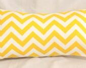 Decorative Pillow Cover - Yellow & White Chevron - Pick your Size Cushion Covers - Baby Nursery - Home Decor - Dorm Decor - Hostess Gift