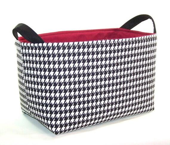 Fabric Organizer Bin ... Alabama Crimson & Houndstooth