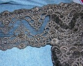 TEN yard x 4 1/2 inches double embroidered venise sheer lace