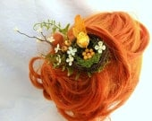 Nesting Bird Hair Fascinator, Bridal Hair, Spring Nest Hair Clip, Unusual Fascinator, Forest Fascinator, Woodland Hair Clip