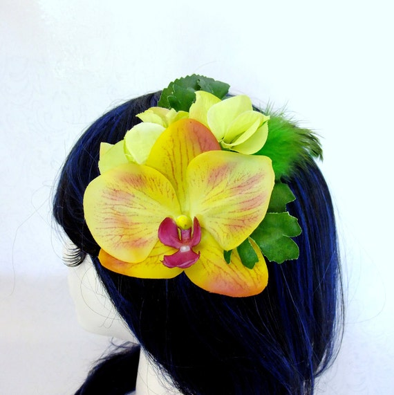 Tropical Orchid Fascinator