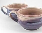Mug pair... in purple and cola.