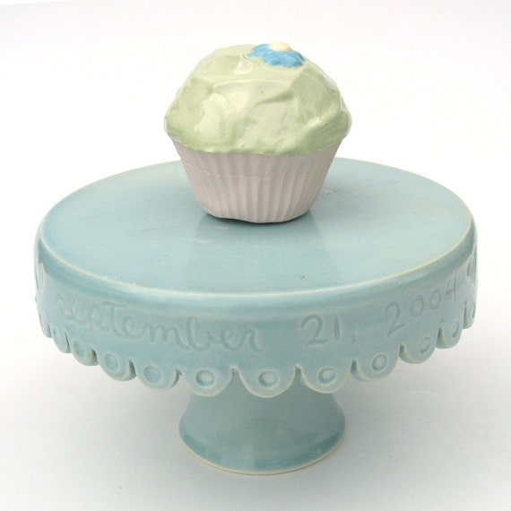 etsy wedding cake stand custom small wedding cake stand made to order in aqua 14049
