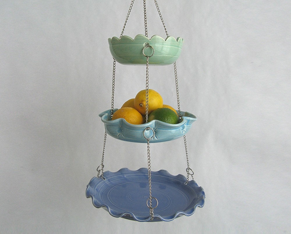 Hanging Fruit Basket Set Of 3 With Unmatchy Edges Made To