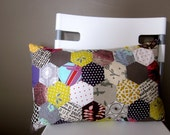 Modern HEXAGON Patchwork Pillow