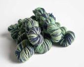 PETRI DISH - Hand-dyed mini skein superwash merino yarn 10g fingering sock weight wool in green and blue