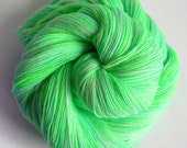 MINT JULEP - hand-dyed lace yarn singles in 100% superfine merino wool - Soltanto Superfine in greens from COLORBOMB