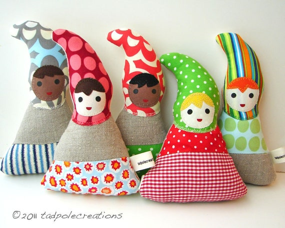Baby Gnome: Organic Baby Toy Gnome Cloth Doll Eco By Tadpolecreations