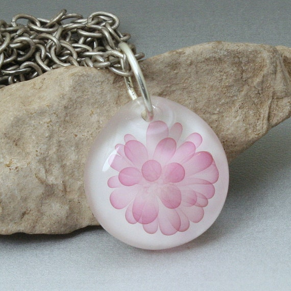 Boro Lampwork Pendant Bright Pink For All You Girls
