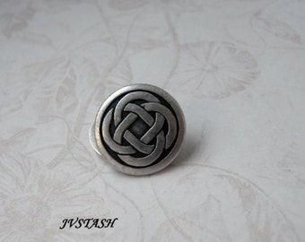 2 each Celtic Knot Pewter Shank Button