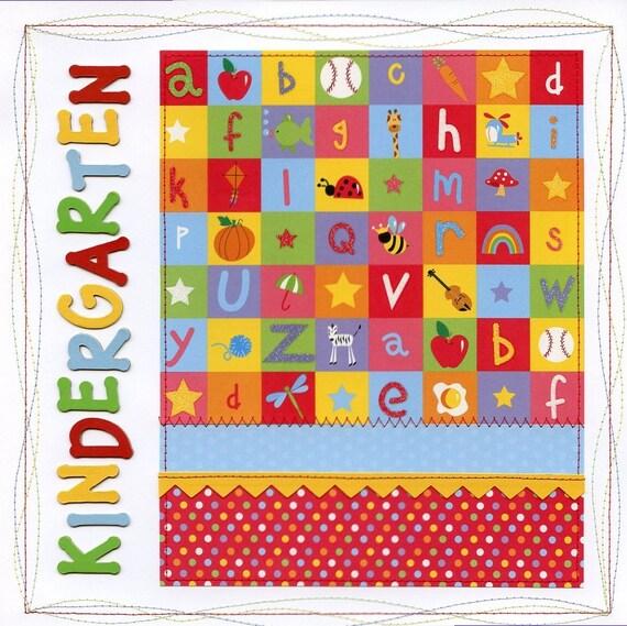 Kindergarten School 2 Page Layout 12x12 Premade Scrapbook