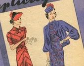 Simplicity Fashion Forecast March 1938 pattern booklet in PDF