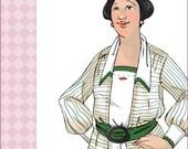 NVL 1910s Antique Ladies or Steampunk blouse 46 bust PLUS SIZE 8049
