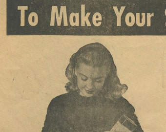 1940s Woman's Day shows you how to make your own bags in PDF
