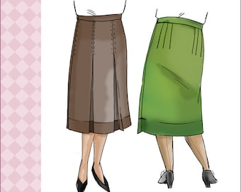 NVL 1920s front pleated flapper skirt 36 waist 48 hips PLUS SIZE 4283