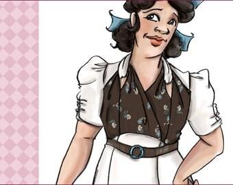 NVL 1930s knot bodice day dress 42 bust PLUS SIZE 1838