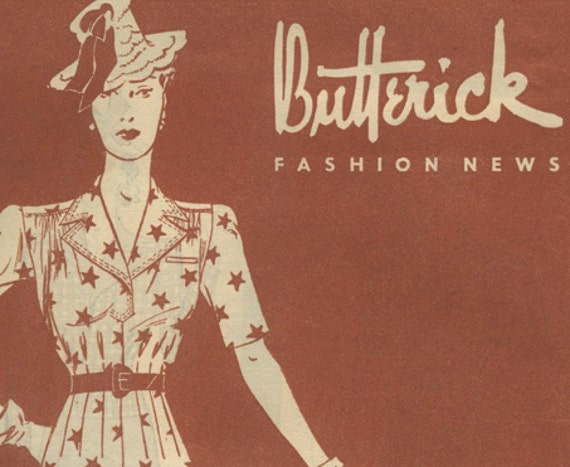 Butterick Fashion News sewing pattern booklet July 1939 in PDF