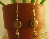 Mocha Freshwater Pearl Earrings