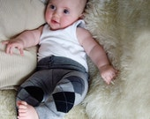 sockpants - grey argyle pattern  - size 0 to 3 months