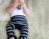 sockpants - grey and black stripe - size 3 months