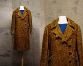 50s M/L Ada's Camel colored Winter Wool Dress COAT