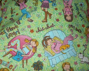 MadieBs Girls Friendship Chat 100% Cotton Pillowcase with Name
