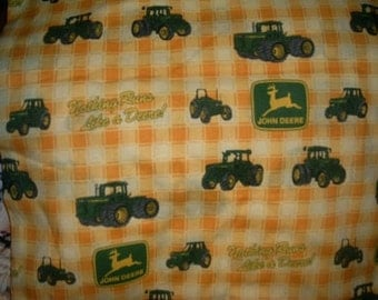 MadieBs Custom John Deere Tractor Cotton Sheet Set for the IKEA Toddler Bed