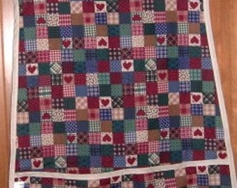 MadieBs Country Heart Homespun Look Smock Cobbler Apron
